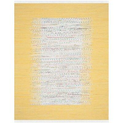 Ona Hand-Woven Ivory/Yellow Area Rug Rug Size: 8 x 10