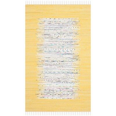 Ona Hand-Woven Ivory/Yellow Area Rug Rug Size: 5 x 8