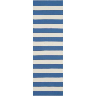 Louella Blue/Ivory Area Rug Rug Size: Runner 23 x 7