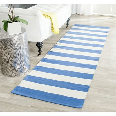 Louella Blue/Ivory Area Rug Rug Size: Runner 23 x 9