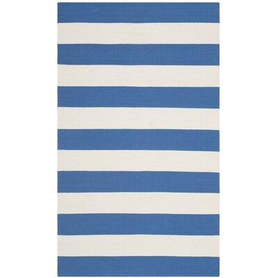 Louella Blue/Ivory Area Rug Rug Size: 3 x 5