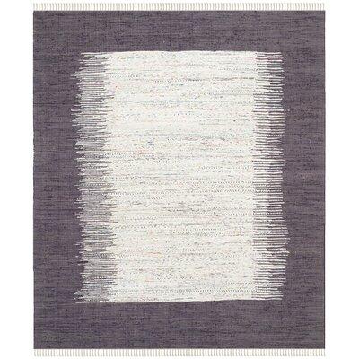 Ona Hand-Woven Ivory / Purple Area Rug Rug Size: 8 x 10