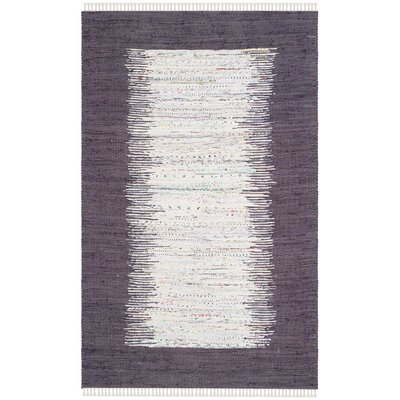 Ona Hand-Woven Ivory / Purple Area Rug Rug Size: 5 x 8