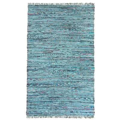 Inkom Hand-Woven Cotton Blue Area Rug Rug Size: Rectangle 4 x 6
