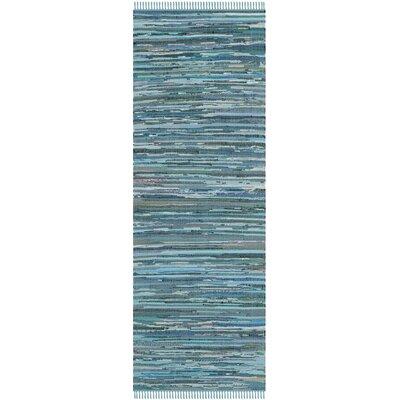Inkom Blue Striped Area Rug Rug Size: Runner 23 x 8