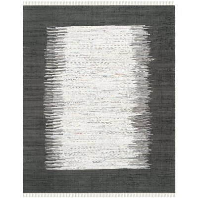 Ona Hand-Woven Ivory / Black Area Rug Rug Size: 5 x 8