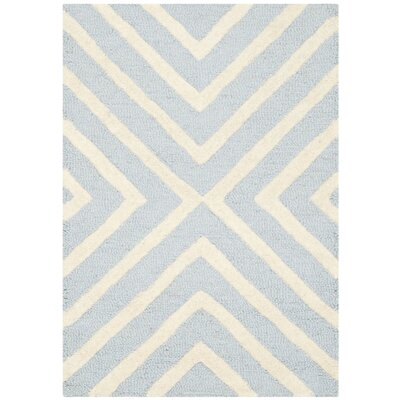 Warm Springs Light Blue/Ivory Area Rug Rug Size: Round 8