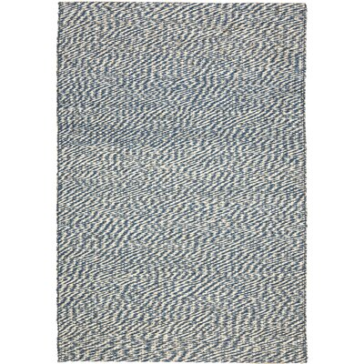 Abrielle Natural Fiber Blue/Ivory Indoor Area Rug Rug Size: 4 x 6