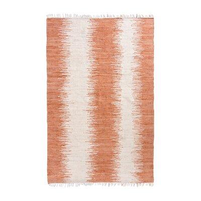 Anchor Lane Hand-Woven Orange Area Rug Rug Size: 5 x 7