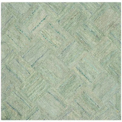 Millia Hand-Tufted Green Area Rug Rug Size: Square 4
