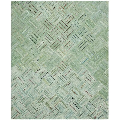 Upton Hand-Tufted Green Area Rug Rug Size: 8 x 10