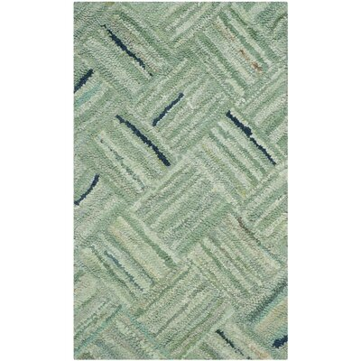 Upton Hand-Tufted Green Area Rug Rug Size: 3 x 5