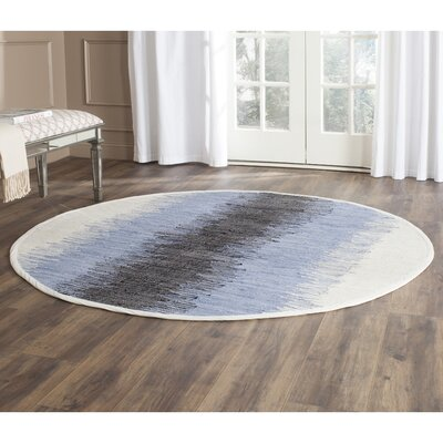 Ona Hand-Woven Cotton Area Rug Rug Size: Round 6