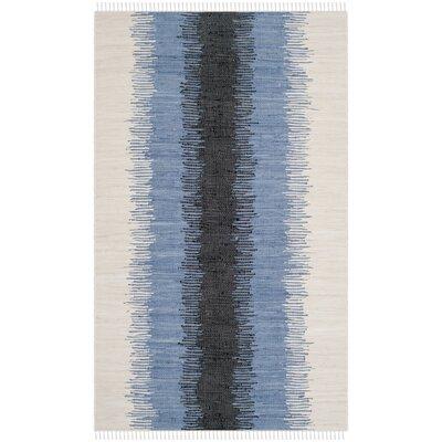 Ona Hand-Woven Grey / Black Area Rug Rug Size: 5 x 8