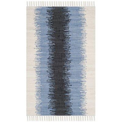 Ona Hand-Woven Grey / Black Area Rug Rug Size: 26 x 4