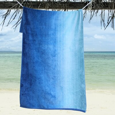 Ngyuen Oversized Dyed Beach Towel Color: Carribean Sea