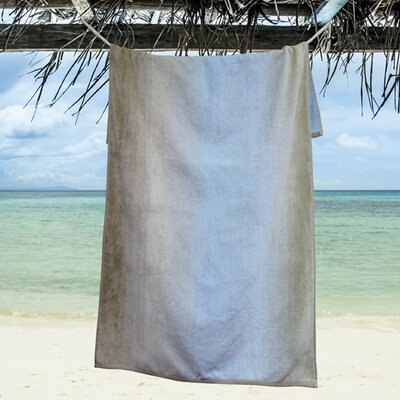Ngyuen Oversized Dyed Beach Towel Color: Coastal Shadow