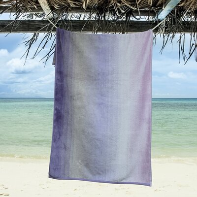 Ngyuen Oversized Dyed Beach Towel Color: Orchid Bloom