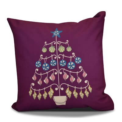 Huong Decorative Holiday Geometric Print Square Throw Pillow Size: 16 H x 16 W, Color: Purple