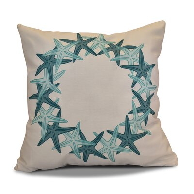 Decorative Holiday Geometric Print Throw Pillow Color: Teal, Size: 26 H x 26 W