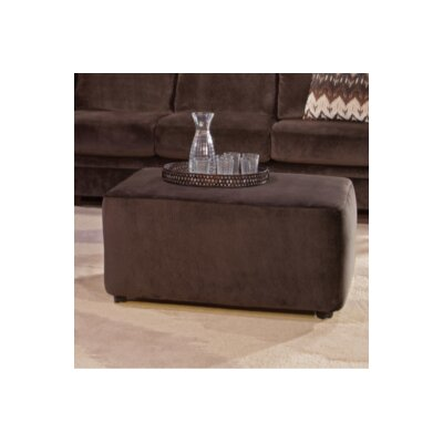Shadowbrook Upholstery Sandcliff Ottoman Color: Olympian Chocolate