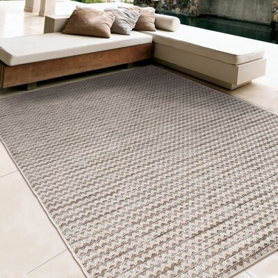 Macaire Gray/Ivory Indoor/Outdoor Area Rug Rug Size: 51 x 76