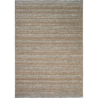 Macaire Dark Brown Indoor/Outdoor Area Rug Rug Size: 51 x 76