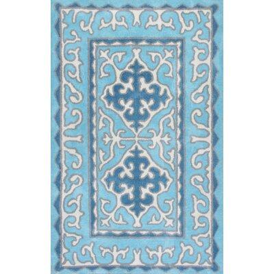 Exton Hand-Tufted Blue Area Rug Rug Size: 5 x 8