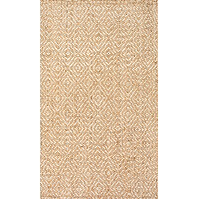 Vachel Hand-Woven Natural Area Rug Rug Size: Rectangle 5 x 8