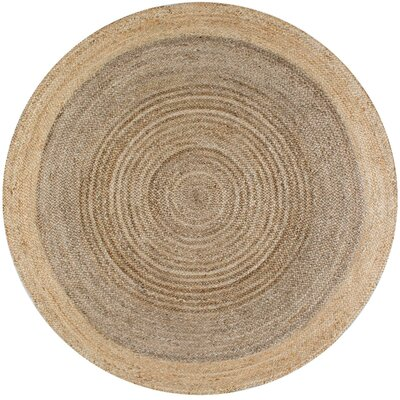 Benham Gray Area Rug Rug Size: Round 4