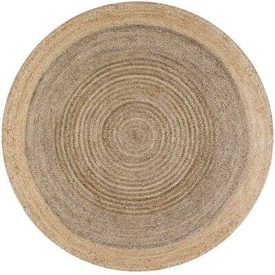 Benham Gray Area Rug Rug Size: Round 6