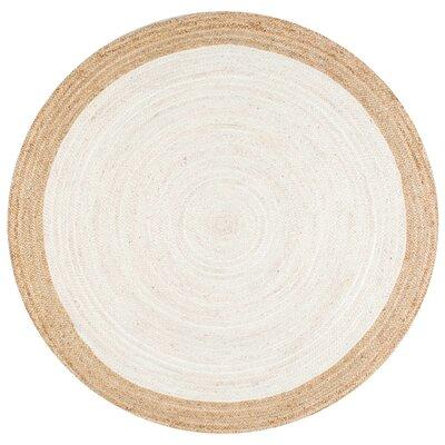 Westbury White Area Rug Rug Size: Round 8