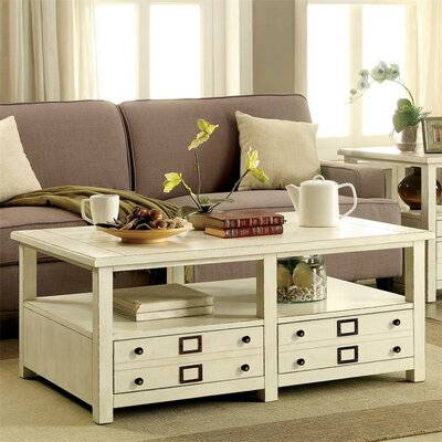 Brentwood Coffee Table with Magazine Rack