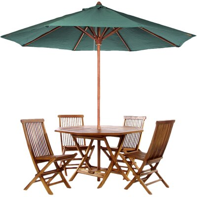 Humphrey 6 Piece Dining Set Color: Green