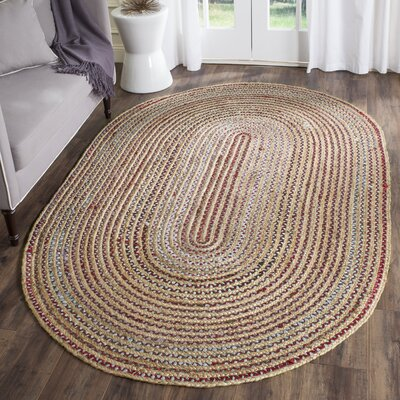 Arria Hand-Woven Natural Area Rug Rug Size: Rectangle 4 x 6