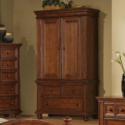 Miami Springs Armoire Finish: Chocolate