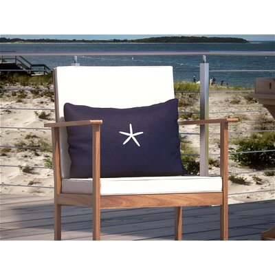 Bradenton Beach Lumbar Pillow Color: Navy