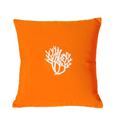 Land O Lakes Outdoor Throw Pillow Size: 18 H x 18 W, Color: Melon