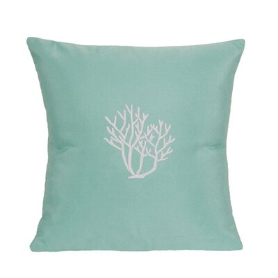 Land O Lakes Outdoor Throw Pillow Size: 18 H x 18 W, Color: Glacier Blue