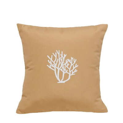 Land O Lakes Outdoor Throw Pillow Size: 18 H x 18 W, Color: Wet Sand