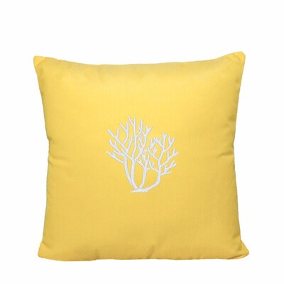 Land O Lakes Outdoor Throw Pillow Size: 14 H x 14 W, Color: Yellow