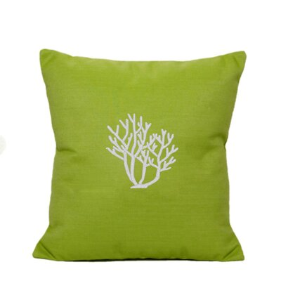 Land O Lakes Outdoor Throw Pillow Size: 14 H x 14 W, Color: Parrot Green