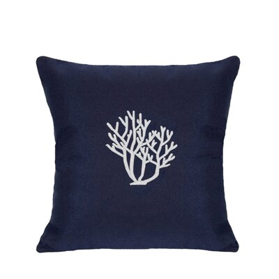 Land O Lakes Outdoor Throw Pillow Size: 18 H x 18 W, Color: Navy