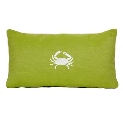 Wabasso Beach Outdoor Lumbar Pillow Size: 18 H x 18 W, Color: Parrot Green