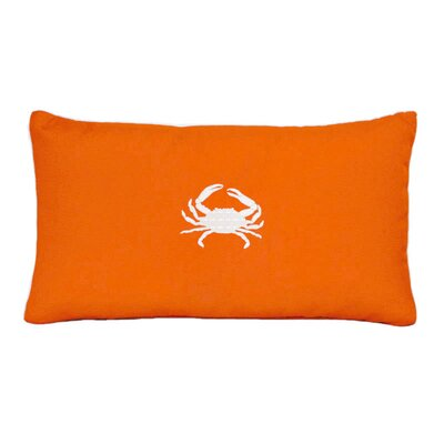 Wabasso Beach Outdoor Lumbar Pillow Color: Melon, Size: 12 H x 20 W