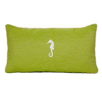 West Perrine Beach Outdoor Sunbrella Lumbar Pillow Color: Parrot Green
