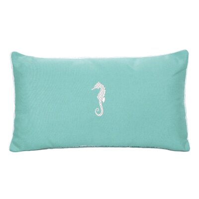 West Perrine Beach Outdoor Sunbrella Lumbar Pillow Color: Glacier Blue