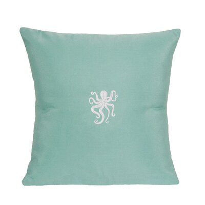 Buoi Indoor/Outdoor Sunbrella Throw pillow Size: 14 H x 14 W, Color: Glacier Blue