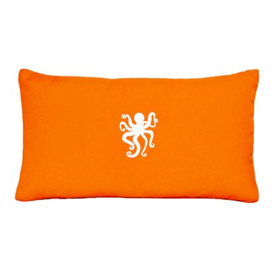 Buoi Indoor/Outdoor Sunbrella Throw pillow Size: 14 H x 14 W, Color: Melon