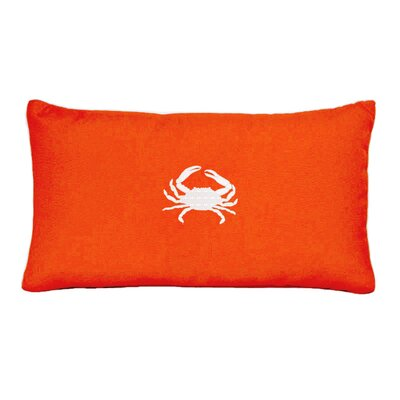 Wabasso Beach Beach Lumbar Pillow Color: Melon